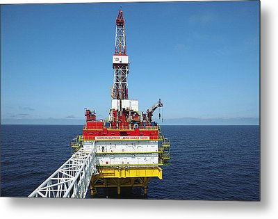 Oil Production Rig, Baltic Sea Metal Print by Ria Novosti