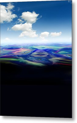 Oil Spill, Artwork Metal Print by Victor Habbick Visions