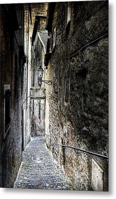 old alley in Italy Metal Print by Joana Kruse