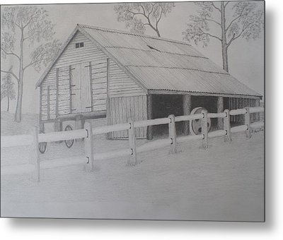 Old Austane Barn Metal Print by Brian Leverton