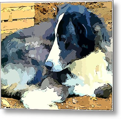 Old Blue Metal Print by Mindy Newman