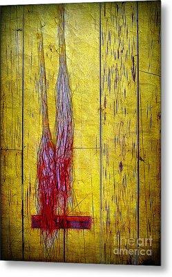 Old Brooms Metal Print by Judi Bagwell