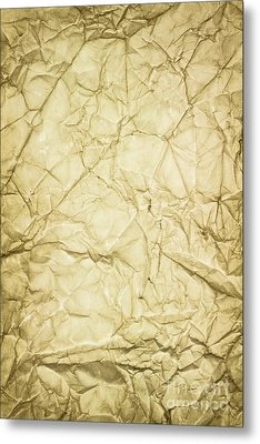 Old Brown Paper Metal Print by Blink Images