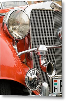 Old Car Detail Metal Print by Odon Czintos