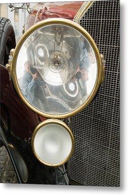Old Car Lamp Metal Print by Odon Czintos