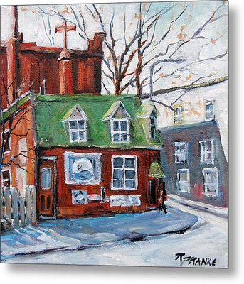 Old Corner Store Montreal By Prankearts Metal Print by Richard T Pranke