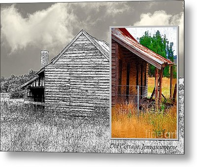 Old Cottage Diptych 2 Metal Print by Fran Woods