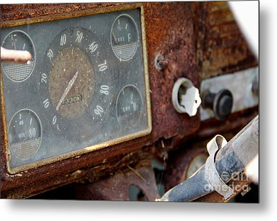 Old Dashboard Metal Print by Pauline Ross