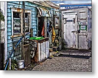 Old Fishing Store At Rawehe Metal Print by Avalon Fine Art Photography