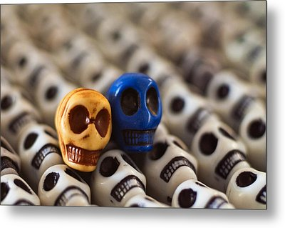Old Gold And Blue Metal Print by Mike Herdering