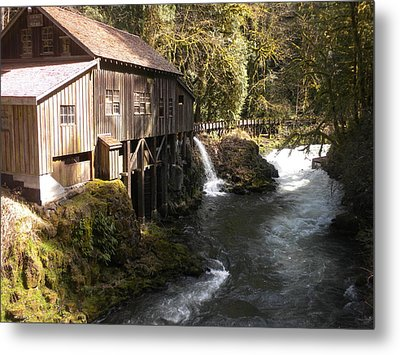 Old Grist Mill Metal Print by Garry Kaylor
