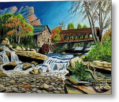 Old Grist Mill Metal Print by Robert Thornton