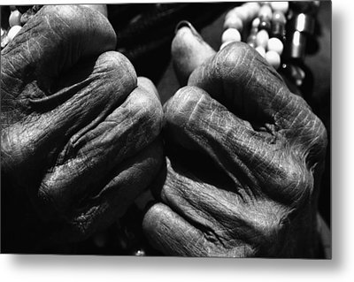 Old Hands 2 Metal Print by Skip Nall