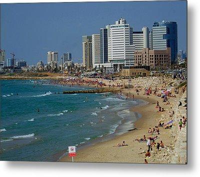 Old Jaffa Beach - Tel Aviv Israel Metal Print by Joshua Benk