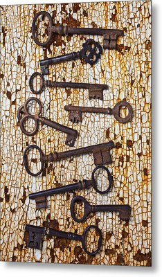 Old Keys Metal Print by Garry Gay