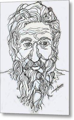 Old Man 2 Metal Print by Johnson Moya