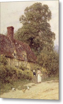 Old Post Office Brook Near Witley Surrey Metal Print by Helen Allingham