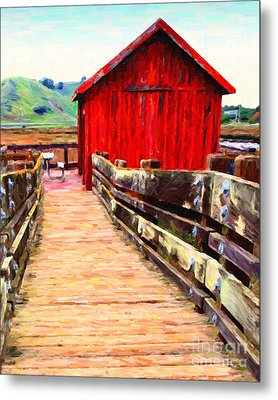 Old Red Shack Metal Print by Wingsdomain Art and Photography