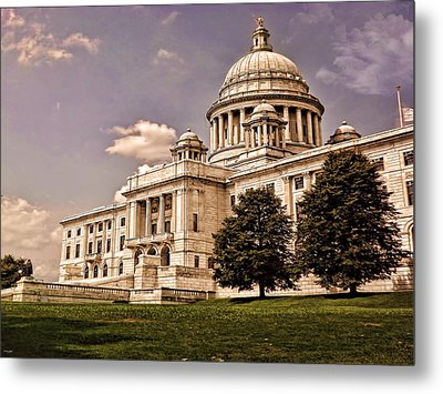Old Rhode Island State House Metal Print by Lourry Legarde