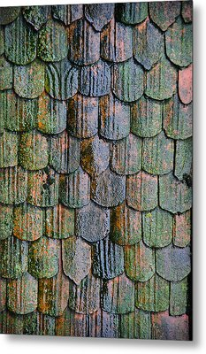 Old Roof Tiles Metal Print by Jen Morrison