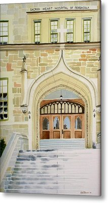 Old Scared Heart Hospital Metal Print by Richard Willows