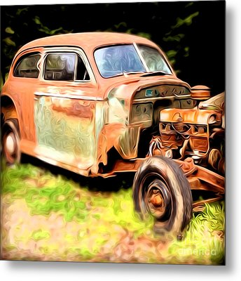 Old Timer Metal Print by Laura Brightwood