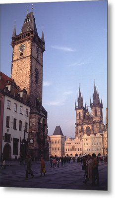 Old Town Square Prague At Sunset Metal Print by Tom Wurl