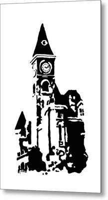Old Washington County Court House In Fayetteville Ar Metal Print by Amanda  Sanford