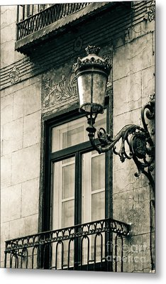 Old Window Lamp Metal Print by Syed Aqueel
