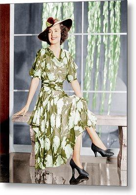 Olivia De Havilland, Ca. 1937 Metal Print by Everett
