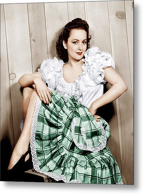 Olivia De Havilland, Ca. 1948 Metal Print by Everett