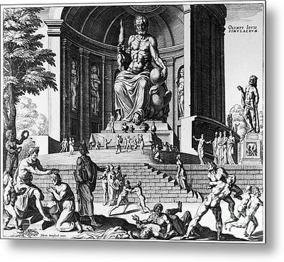 Olympia: Statue Of Zeus Metal Print by Granger