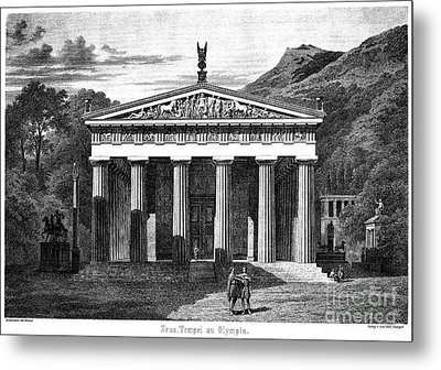 Olympia: Temple Of Zeus Metal Print by Granger