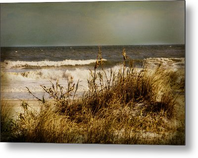 On The Beach Metal Print by Mary Timman