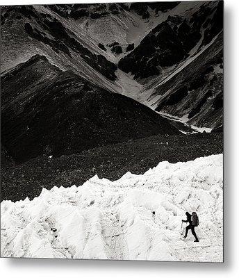 On The Glacier Metal Print by Konstantin Dikovsky
