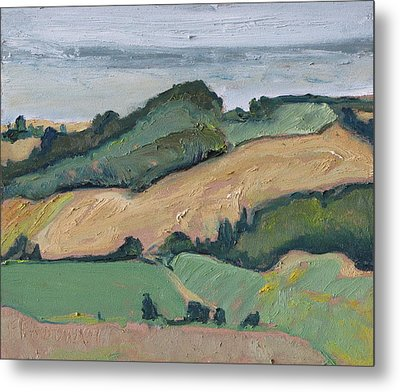 On The Valley Metal Print by Francois Fournier