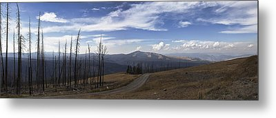 On Top Of The Mountains In Yellowstone National Park Metal Print by Joe Gee