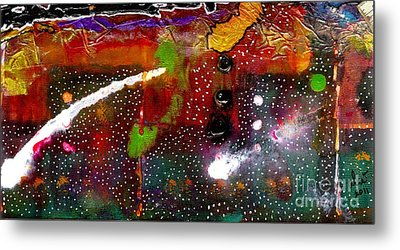 Once Upon A Snowy Night Metal Print by Angela L Walker