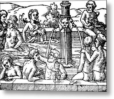Open-air Bath Balneology 1571 Metal Print by Science Source