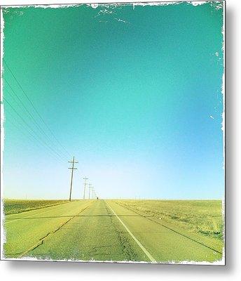 Open Road Metal Print by A L Christensen