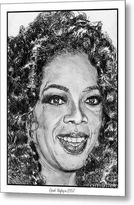 Oprah Winfrey In 2007 Metal Print by J McCombie