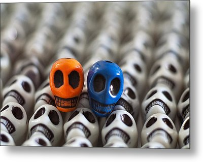 Orange And Blue Metal Print by Mike Herdering
