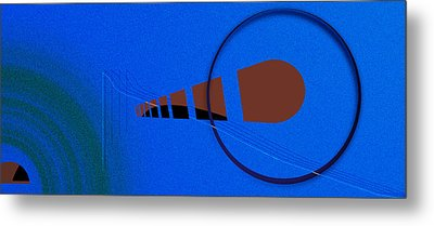 Orange Over Blue Metal Print by Grant  Van Zevern