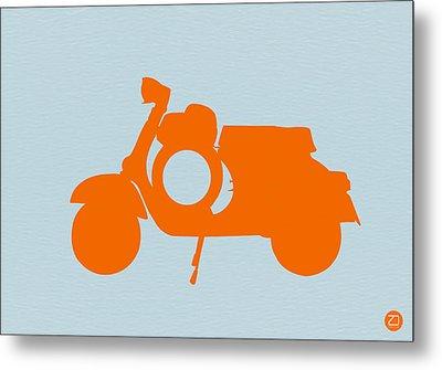 Orange Scooter Metal Print by Naxart Studio