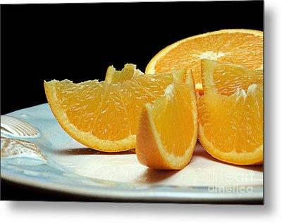 Orange Slices Metal Print by Andee Design