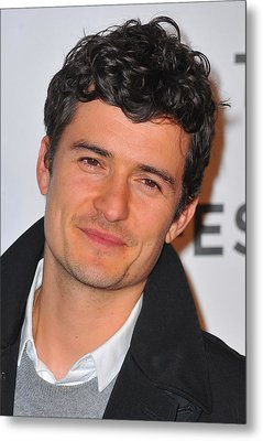 Orlando Bloom At Arrivals For The Good Metal Print by Everett