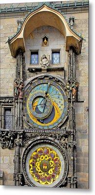 Orloj - Prague Astronomical Clock Metal Print by Christine Till