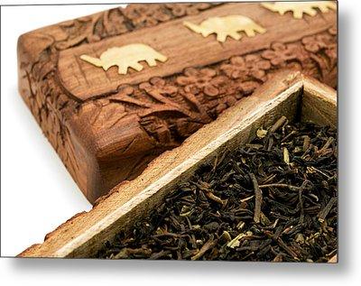 Ornate Box With Darjeeling Tea Metal Print by Fabrizio Troiani
