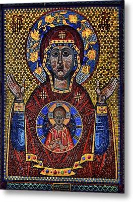 Orthodox Icon Of The Mosaic Metal Print by Gennadiy Golovskoy