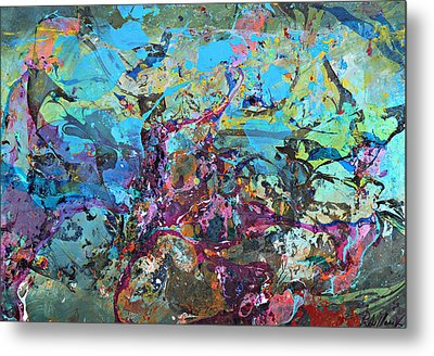 Metal Print featuring the painting Otherside Universe 01 by Pasquale Di maso